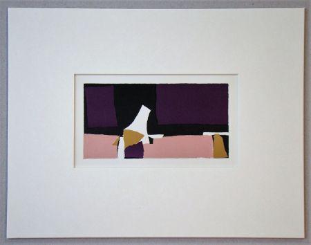 Lithographie De Stael - Composition Violette - 1952