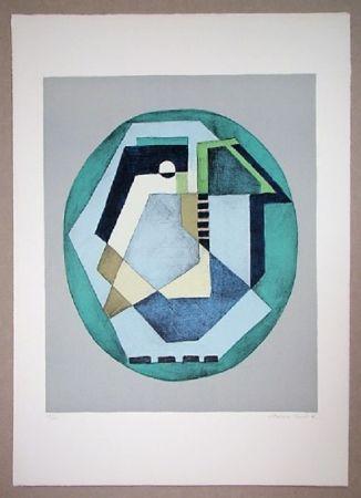 Lithographie Radice - Compositione astratta verde