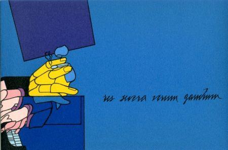 Lithographie Adami - Concerto à quatre mains