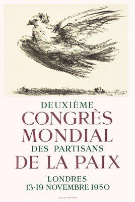 Plakat Picasso - Congrès de la Paix