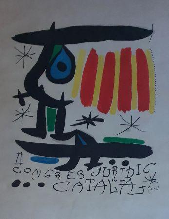 Lithographie Miró - Congreso Juridico Catalan