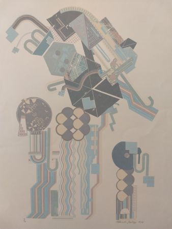 Lithographie Paolozzi - Construction