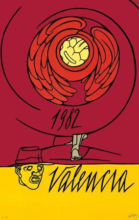 Lithographie Adami - Copa del Mundo de Fútbol España 1982 - Valencia