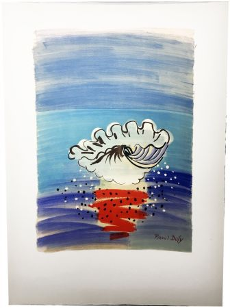 Lithographie Dufy - COQUILLAGE. Hommage à Raoul Dufy (1955)