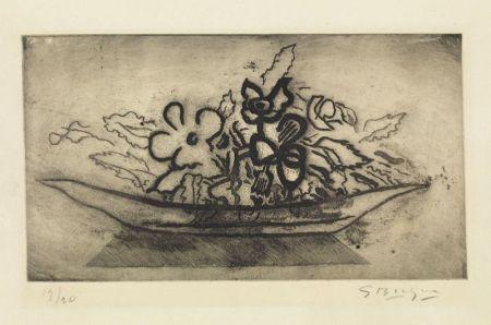 Aquatinta Braque - Corbeille de fleurs