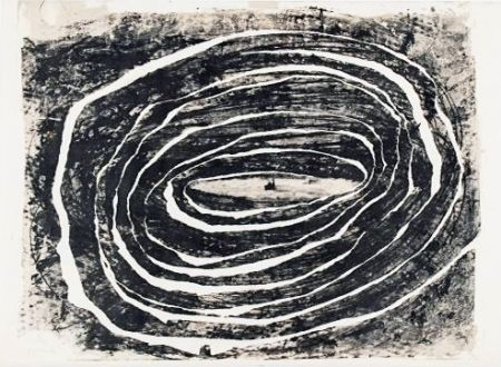 Lithographie Barcelo - Corrida