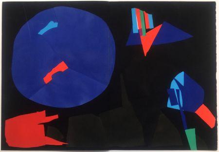 Pochoir Lanskoy - CORTÈGE. Pochoir original (1959)