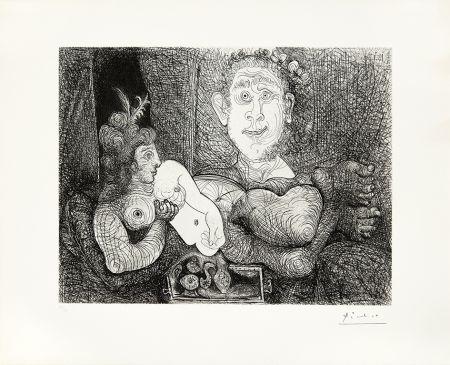 Stich Picasso - Coulisses du tableau, odalisque et peintre