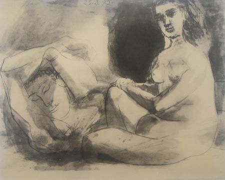 Lithographie Picasso - Couple
