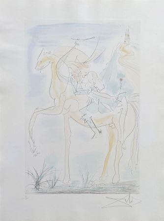 Stich Dali - Couple à cheval