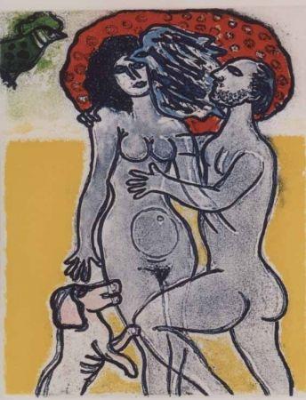 Aquatinta Corneille - Couple de l'ete