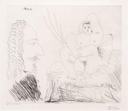 Keine Technische Picasso - Courtisane au Lit avec un Visiteur