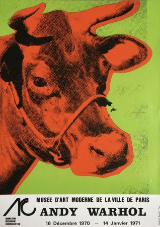 Keine Technische Warhol - 'Cow Wallpaper (Green)' 1970 Original Pop Art Poster