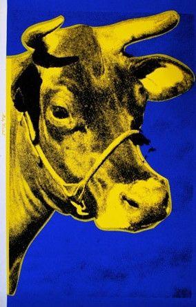 Siebdruck Warhol - Cow (Yellow), 1971/89