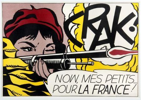 Lithographie Lichtenstein - Crak!