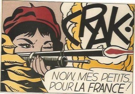 Lithographie Lichtenstein - CRAK! Now mes Petits ... pour la France!