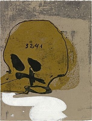 Radierung Und Aquatinta Tàpies - Crani amb xifres