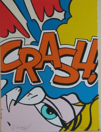 Lithographie Matos - Crash Orange