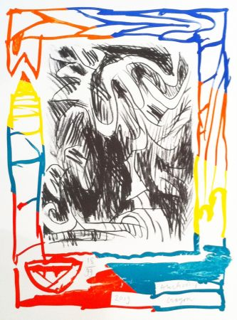 Lithographie Alechinsky - Crayon