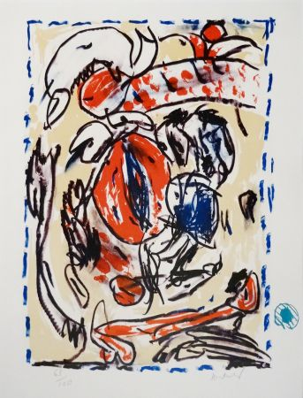 Lithographie Alechinsky - Crayon Sur Coquille - Cerclitude