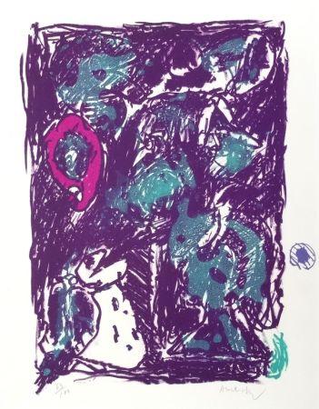 Lithographie Alechinsky - Crayon Sur Coquille - Le Rare Heureux