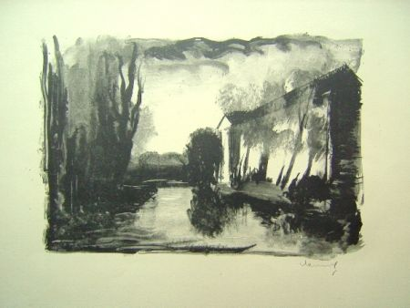 Lithographie Vlaminck - Crepuscule
