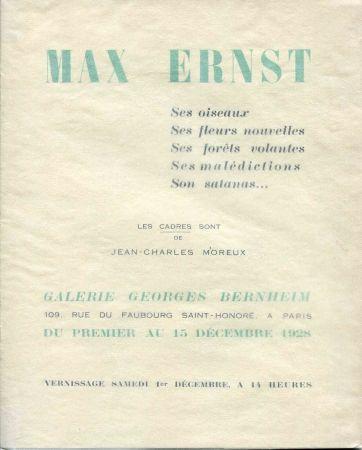 Illustriertes Buch Ernst - CREVEL (René). Max Ernst. Ses oiseaux, ses fleurs nouvelles, ses foêts volantes, ses malédictions, son satanas...