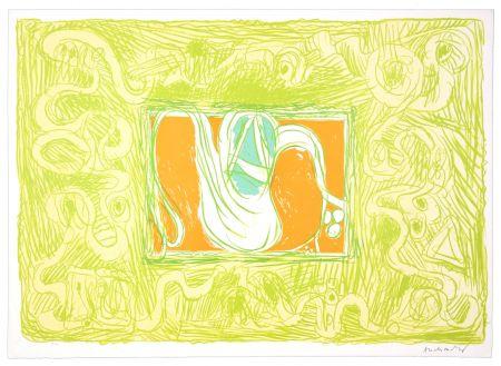 Lithographie Alechinsky - Crevette et salade