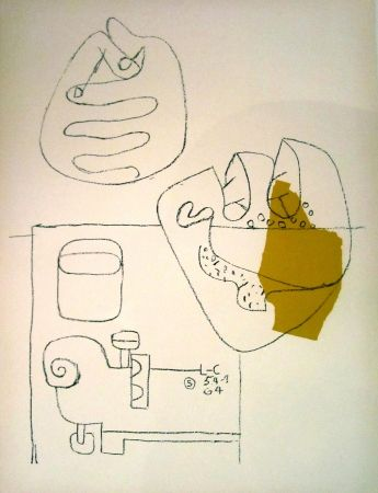 Lithographie Le Corbusier - Crossed Hands