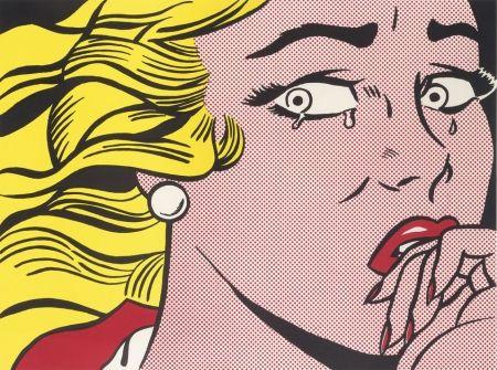 Lithographie Lichtenstein - Crying Girl