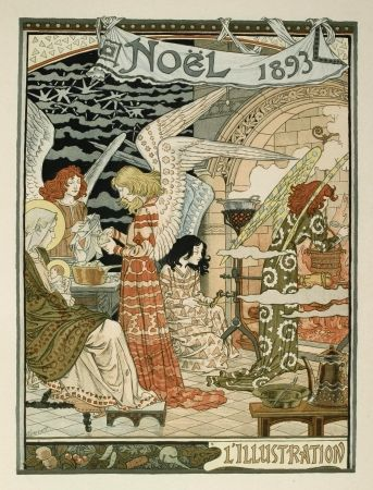 Lithographie Grasset - Cuisine des anges / Angels' Kitchen