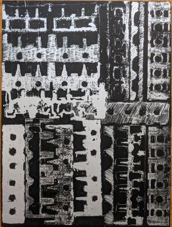Lithographie Arman - Culasses sciées