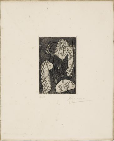 Radierung Picasso - C.Zervos. PICASSO ŒUVRES 1920-1926. Cahiers d'Art », 1926. 1/50 avec l'eau-forte originale signée.