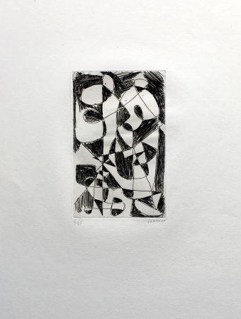 Stich Lanskoy - DÉDALE. Gravure pour l'affiche de Pierre Lecuire (1960)