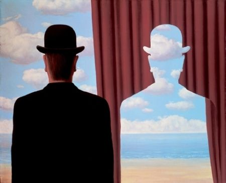 Lithographie Magritte - Décalcomanie