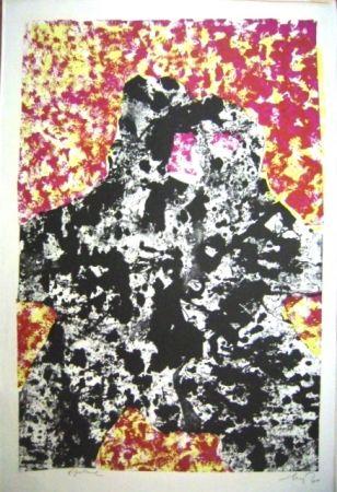 Lithographie Baj - Dalla Materia