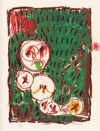 Lithographie Alechinsky - Dans le même panier