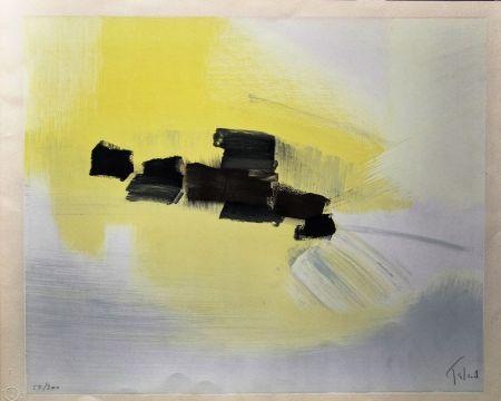 Lithographie Tal Coat - Dans Les Champs
