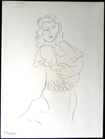 Lithographie Matisse - Danseur