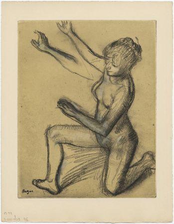Radierung Und Aquatinta Degas - Danseuse : étude de nu et mouvements (vers 1896)