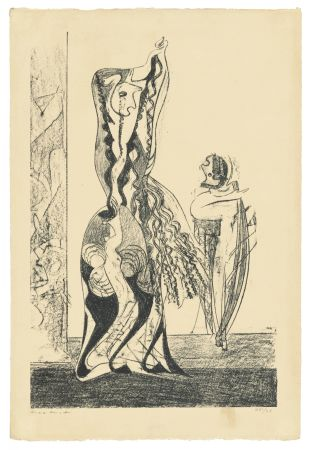 Lithographie Ernst - Danseuses