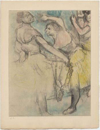 Radierung Und Aquatinta Degas - Danseuses à l'Opéra (étude, vers 1880)