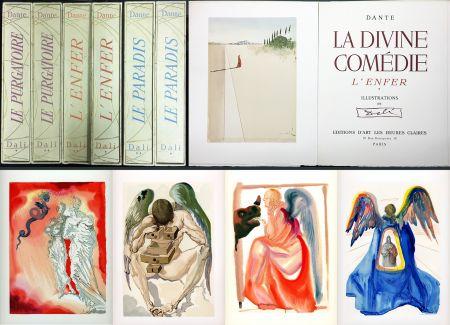 Illustriertes Buch Dali - Dante : LA DIVINE COMÉDIE. 6 volumes. 100 planches couleurs. (1959)