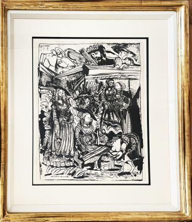 Lithographie Picasso - David and Bathsheba (After Lucas Cranach)