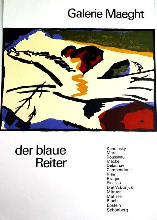 Lithographie Kandinsky - De Blaue Reiter