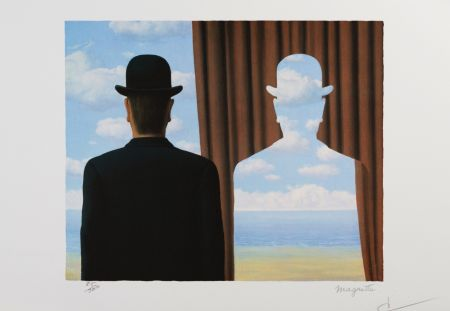 Lithographie Magritte - Decalcomanie