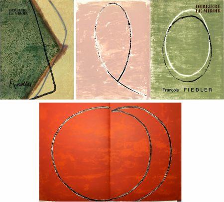 Illustriertes Buch Fiedler - DERRIÈRE LE MIROIR: COLLECTION COMPLÈTE des 4 volumes de la revue  consacrés François Fiedler: 26 LITHOGRAPHIES ORIGINALES (de 1959 à 1974).