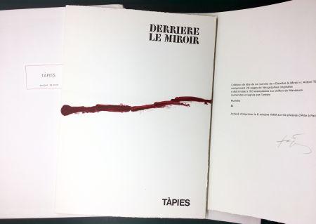Illustriertes Buch Tàpies - DERRIÈRE LE MIROIR n° 180 . TÀPIES . 1969. TIRAGE DE LUXE SIGNÉ.