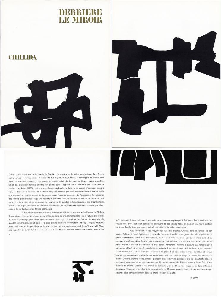 Illustriertes Buch Chillida - Derrière le Miroir n° 143 . CHILLIDA . Avril 1964.