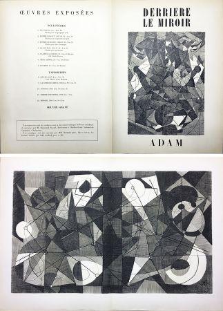 Stich Adam - Derrière le Miroir n° 24. ADAM .1949. Gravure originale.